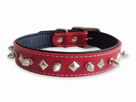 Stud Red Collar - Small
